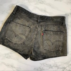 Levi's High Waist Denim Shorts Silver Tab Size 7